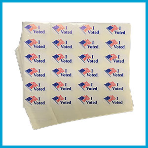 I Voted Stickers, 1-3/4