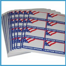 ELECTION OFFICIAL Self-Adhesive Name Badge Packs