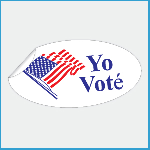 Yo Vot&eacute Stickers, 1-3/4