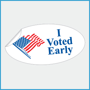 I Voted Early Stickers, 1-3/4