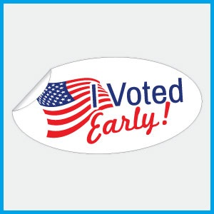 I Voted Early Stickers - New Design