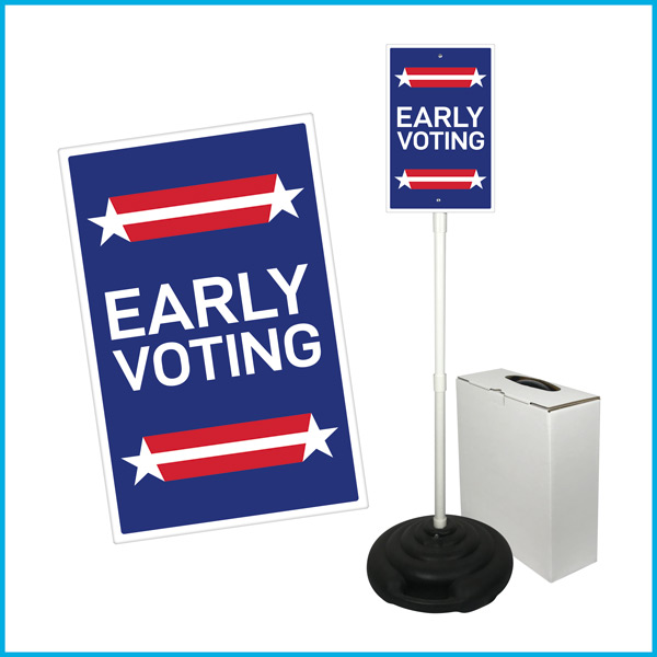 EARLY VOTING Weightable Base Sign Sets