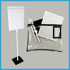 Pocket Pal Table Top Sign Set with Bag