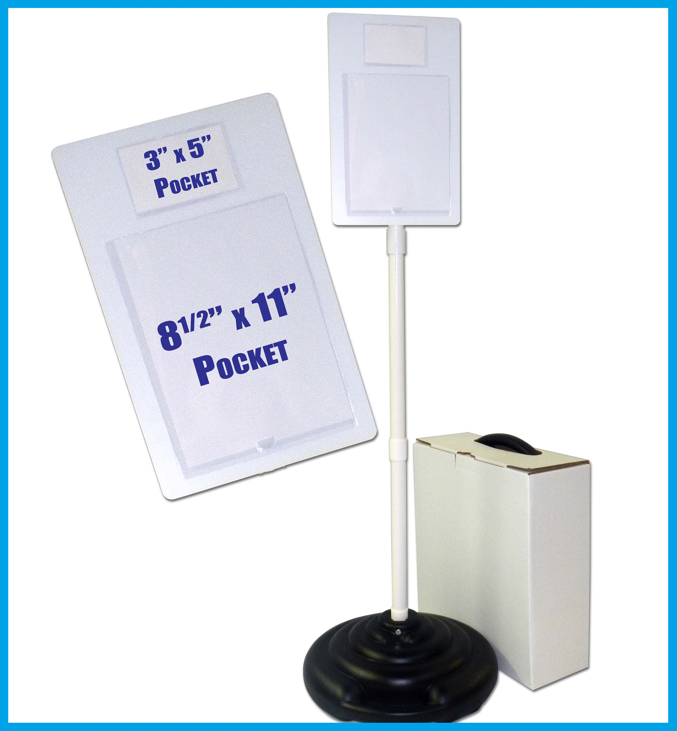 Pocket Plus™ Sign Set with Weightable Base
