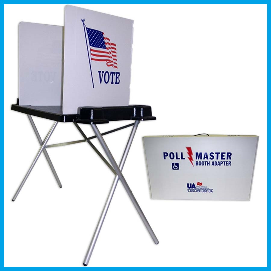 ADA Accessible Voting Booth without Light
