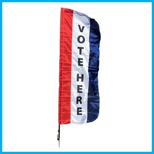VOTE HERE Message Flag Sets w/ Ground Stake