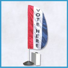 VOTE HERE Message Flag Sets w/ Weightable Base