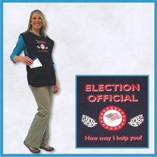 ELECTION OFFICIAL Side-Tie Aprons